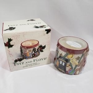 NEW UNOPENED FITZ AND FLOYD TOYLAND SANTA CANDLE